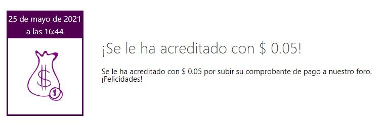 [PAGANDO] HEEDYOU - 3ra oferta - 80% REFBACK - Recibido 3er. pago Bonus_10