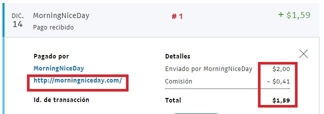 [CERRADA] MORNINGNICEDAY - Standard - Refback 80% - Mínimo 2$ - Recibido 2do. pago - Página 2 Pago115
