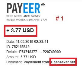 [PAGANDO] CASH4EVER - REFBACK 60% - Mínimo $ 3 - 48/100 Referidos - Recibido 11Mo pago Pago116