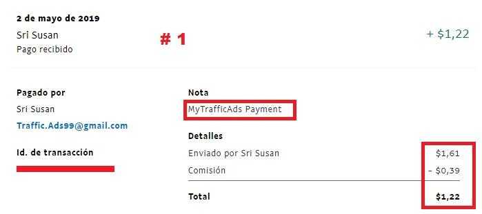 [PROBLEMAS] MYTRAFFICADS - 80% REFBACK - MÍNIMO 1$ - Recibido 2do. pago Pago119