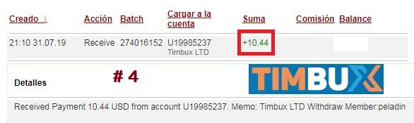 [PAGANDO] TIMBUX (oferta II) - 80% REFBACK - MÍNIMO 2$ - Recibido 15to. pago - Página 2 Pago415