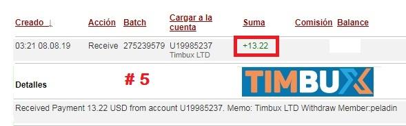 [PAGANDO] TIMBUX (oferta II) - 80% REFBACK - MÍNIMO 2$ - Recibido 15to. pago - Página 2 Pago511