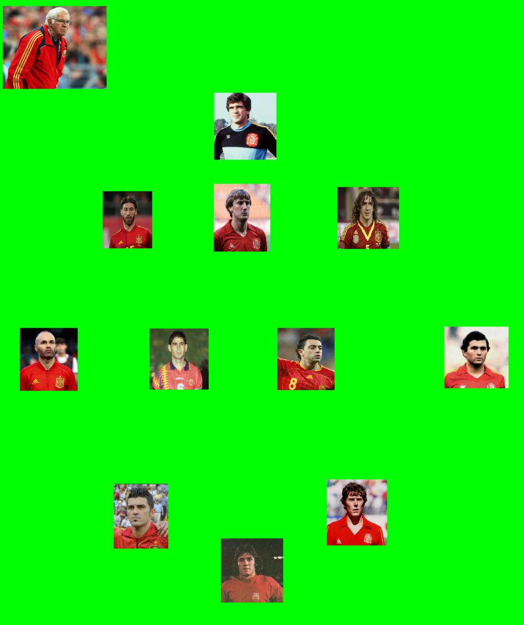 El Once ideal de futbolistas españoles en el chiringuito Popuhead. Selecc10
