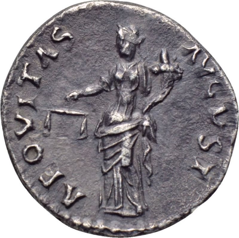 Denario de Nerva. AEQVITAS AVGVST. Roma _3-610