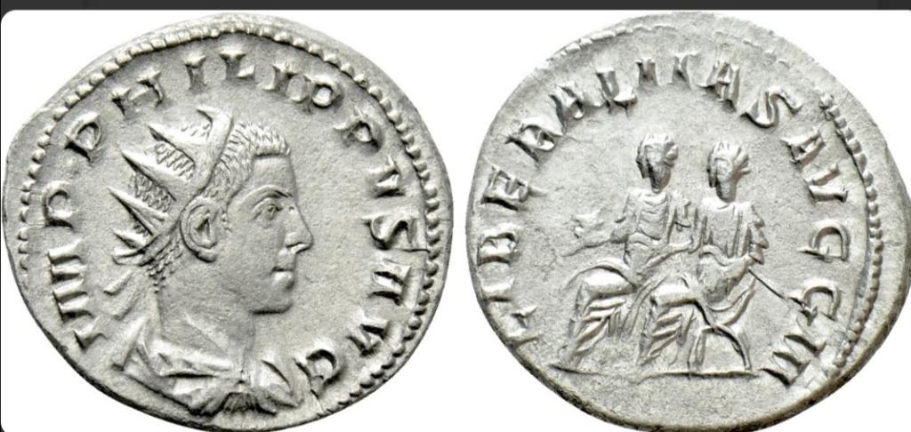 Antoniniano de Filipo II. LIBERALITAS AVGG III. Roma Screen29