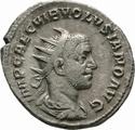 Antoniano de Volusiano. IVNONI MARTIALI. Juno detro de templo díctilo. Roma _3-1_110