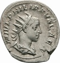 Antoniniano de Filipo II. PRINCIPI IVVENT. Cesar a izq. Roma _3-3_110