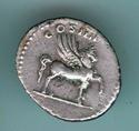 Denario de Domiciano. COS IIII. Pegaso a dcha. Roma. _3-8710