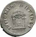Antoniano de Volusiano. IVNONI MARTIALI. Juno detro de templo díctilo. Roma _310