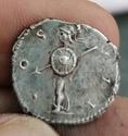 Denario de Adriano. COS III. Minerva a izq. Roma Img_2121