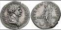 Denario de Trajano. P M TR P COS VI P P S P Q R / PRO-VID. Providencia estante a izq. Roma. Screen46
