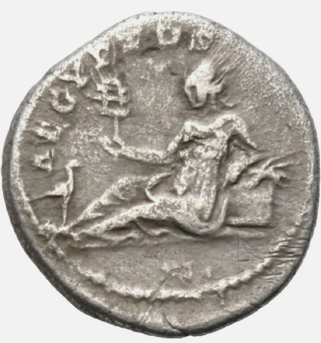 Denario de Adriano. AEGYPTOS. Egipto reclinada a izq. Roma Img_2022