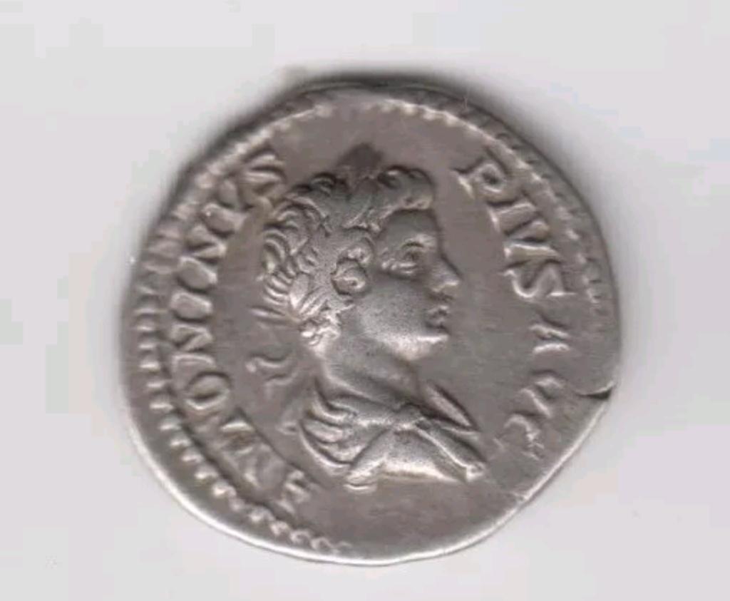 Denario de Caracalla. PONT TR P VI COS. Roma estante a izq. Roma. Screen10