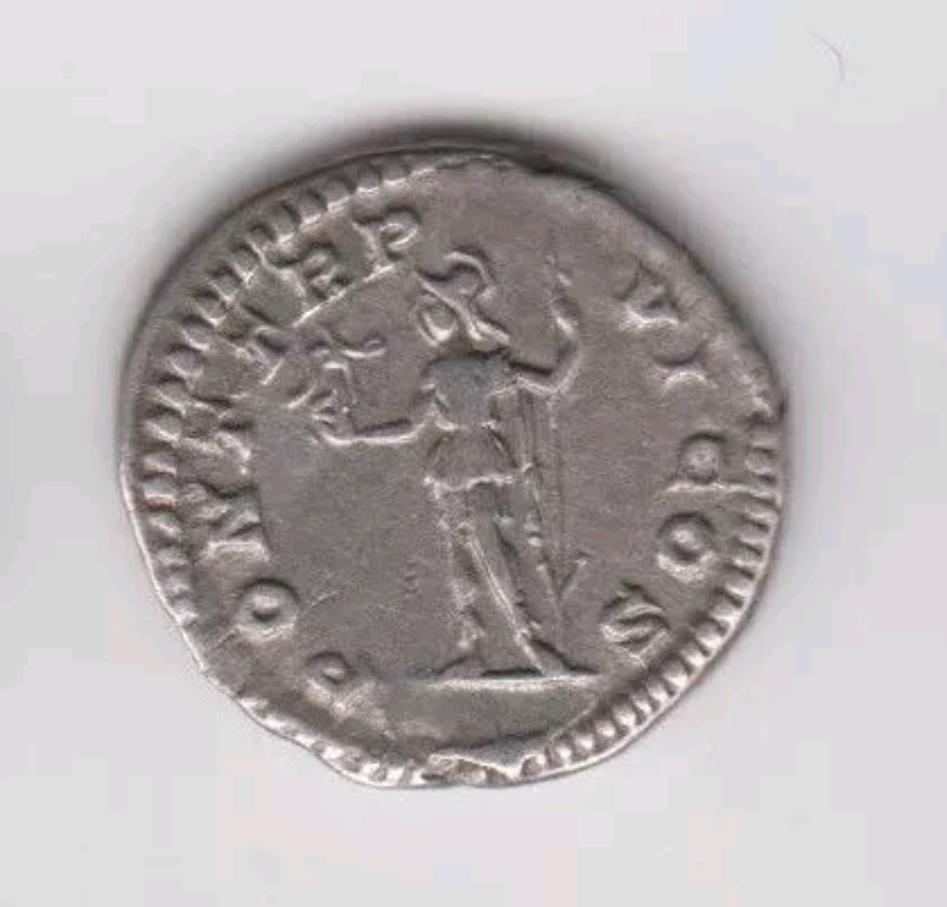 Denario de Caracalla. PONT TR P VI COS. Roma estante a izq. Roma. Screen11