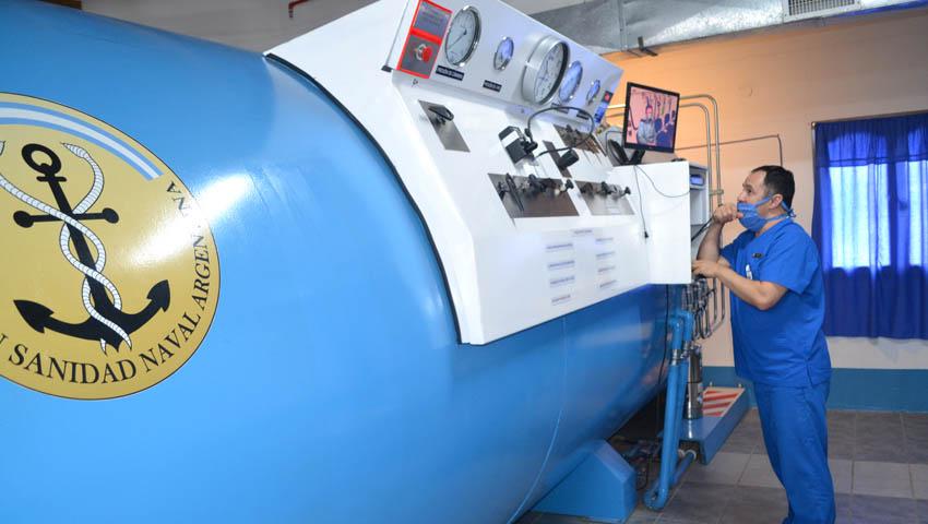 Habilitaron la cámara hiperbárica en el Hospital Naval Ushuaia 14-09-15