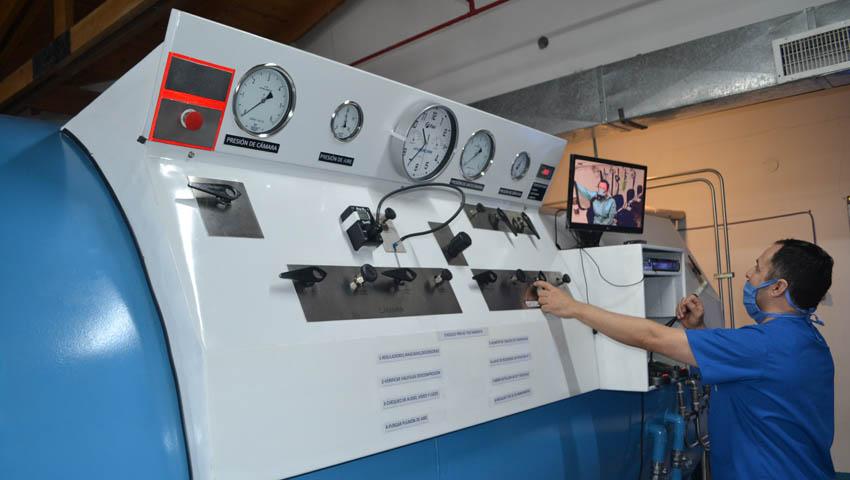 Habilitaron la cámara hiperbárica en el Hospital Naval Ushuaia 14-09-16