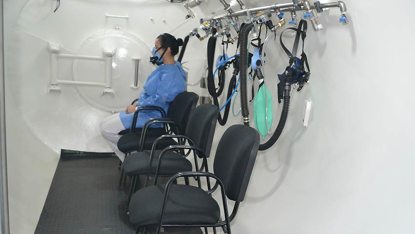Habilitaron la cámara hiperbárica en el Hospital Naval Ushuaia 14-09-17