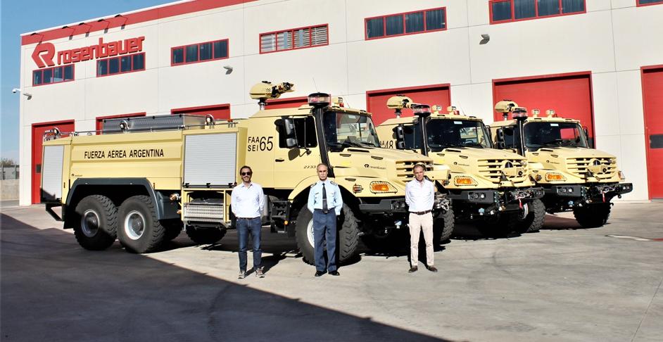 Nuevos camiones hidrantes para el servicio de Contraincendio Faa410