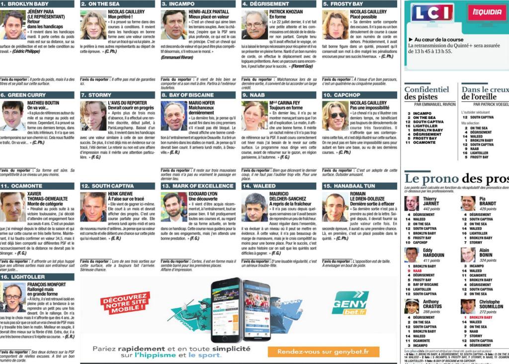la presse hippique du LUNDI 6 AOUT  - Page 2 W121