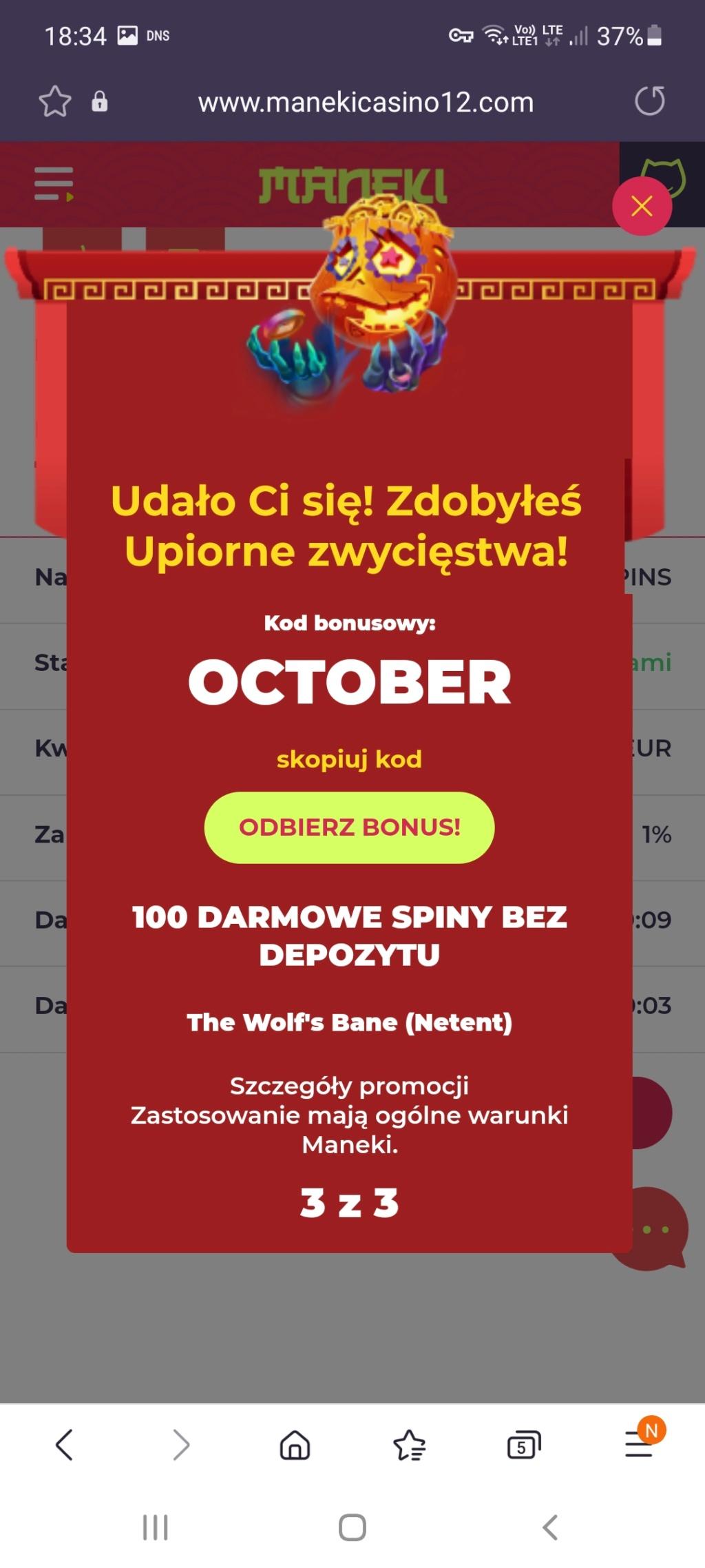 Maneki Casino 10 free spins no deposit bonus - Page 5 Screen24