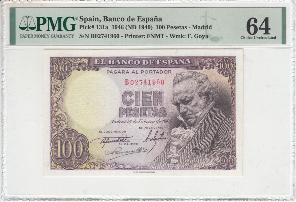 100 Pesetas de 1946 Goya-110