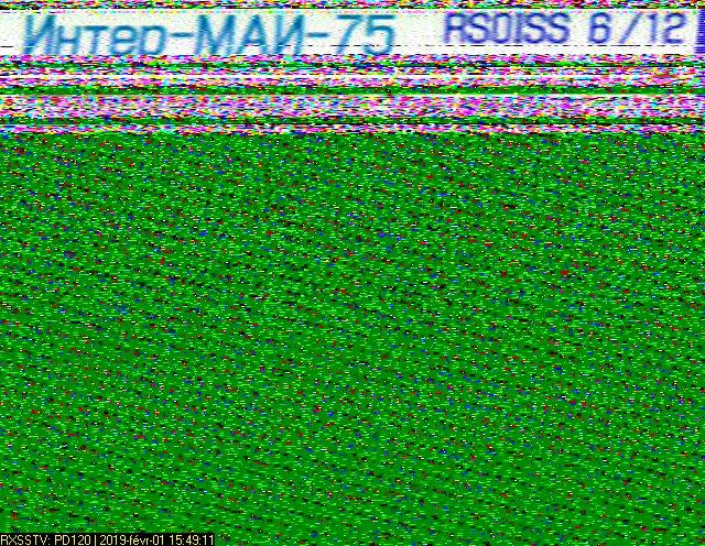 ISS SSTV du 01 02 1019 2019-011