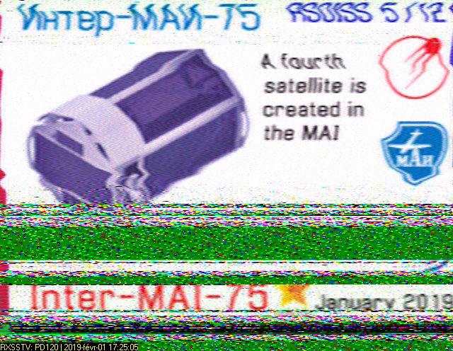 ISS SSTV du 01 02 1019 2019-012