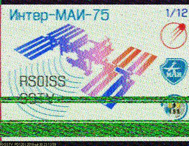 Activité SSTV prévue à bord d'ISS pour les 30 & 31 juillet 2018 Iss-2011