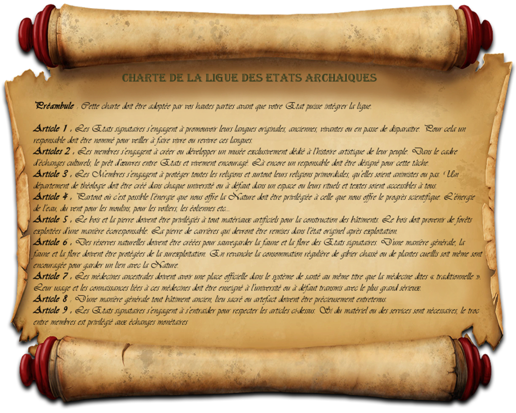 Charte Ligue des Etats Archaiques (LEA) Charte10