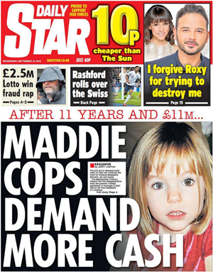 Hunt for Maddie McCann could be shelved within THREE WEEKS: Missing girl's parents fear search may end abruptly as funding runs out with no new leads Cash10