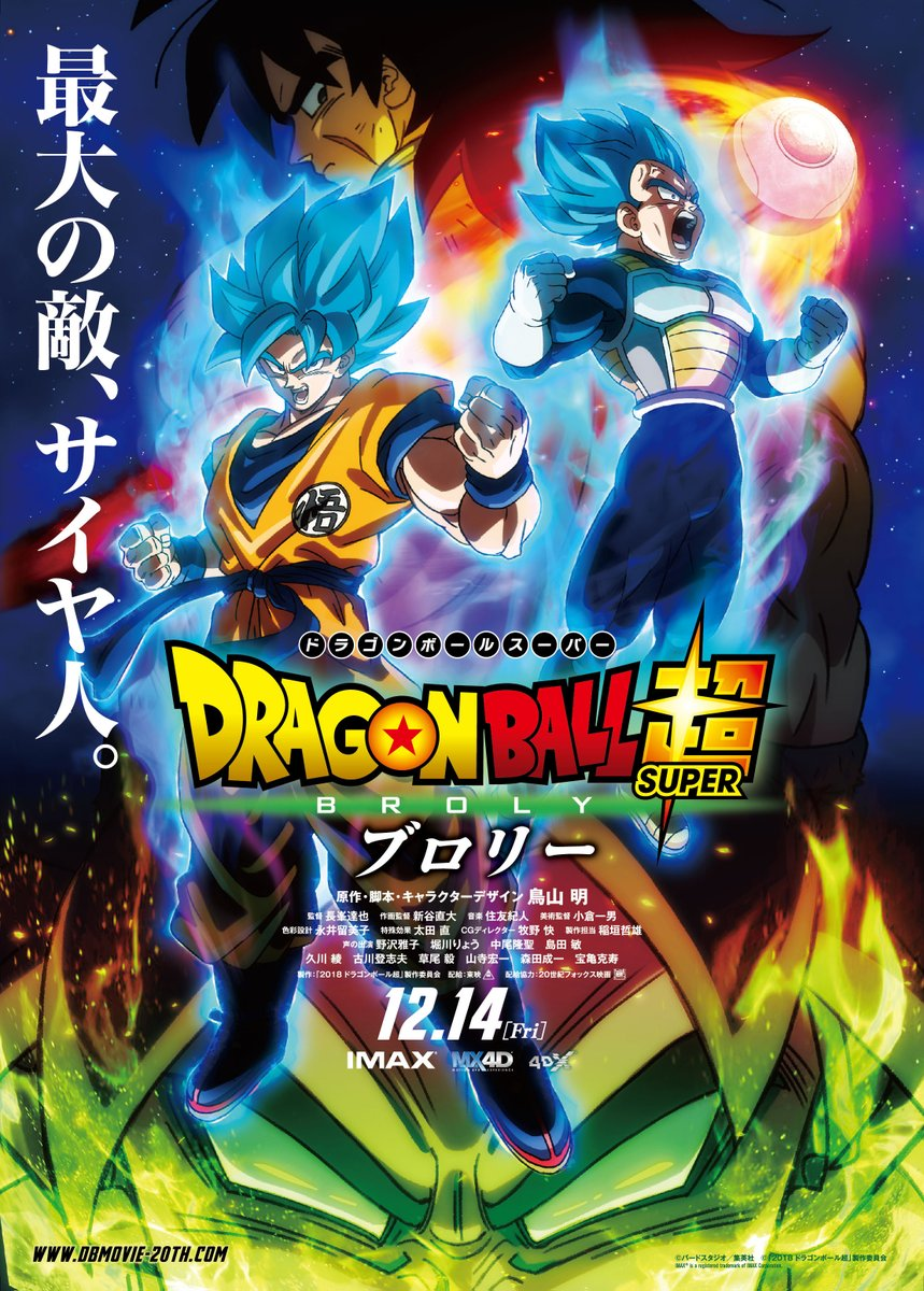 Dragon Ball Super: Broly 2018 Movie Dhss0710
