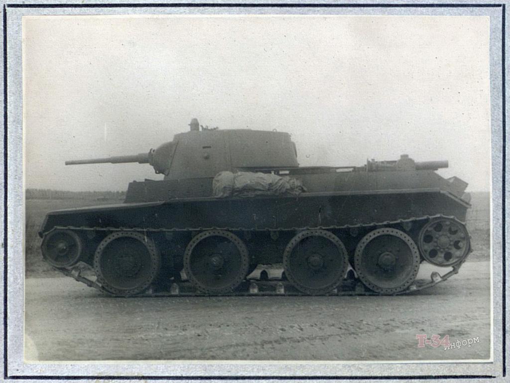 БТ-7М (А-8) - лёгкий колесно-гусеничный танк. 00-yak24