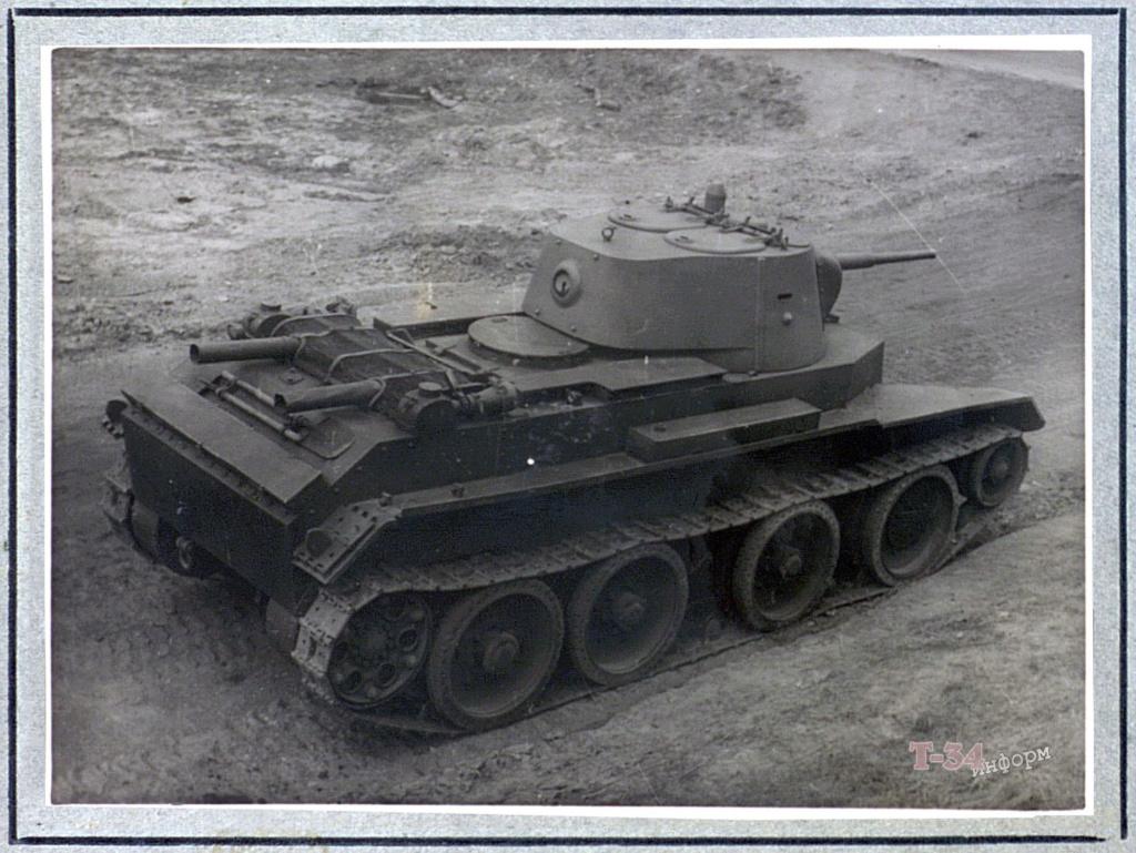 БТ-7М (А-8) - лёгкий колесно-гусеничный танк. 0023