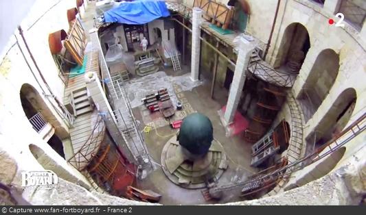 Existe-t-il des photos de la rénovation de la salle du trésor en 2014 ? Fort-b20