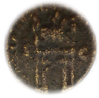 Une monnaie difficille à lire IIe ou IIIe Char1210
