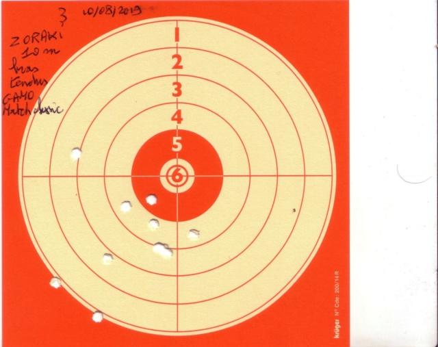 zoraki - trois cartons de reglage red dot WALTHER NANO sur ZORAKI 2019-014