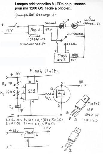 schéma pour feux additionnels  et Alarme Ledsfl10