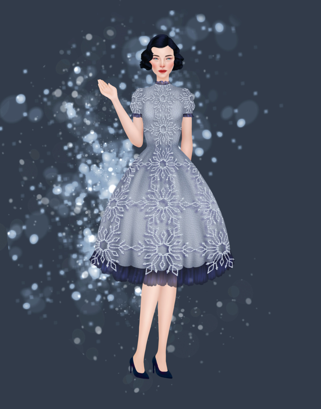 Leandra's Weekly Design Challenge: #13 Snowflakes Winter11