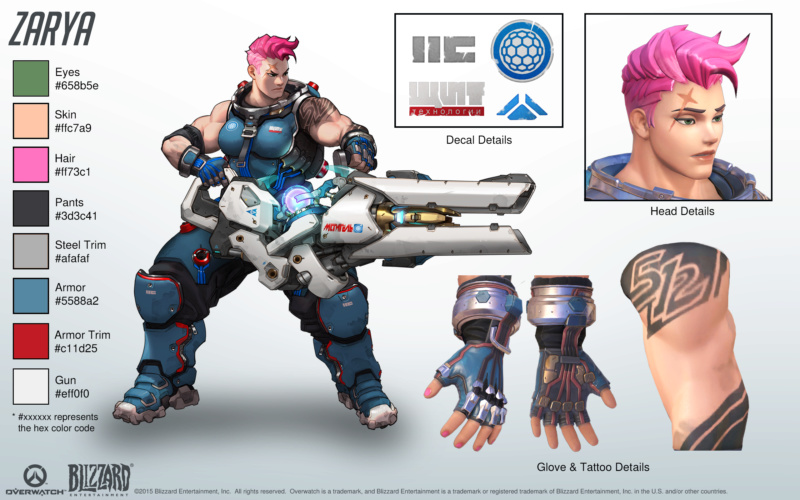 2 - Top 3 female characters from Video Games that should be made Zarya11