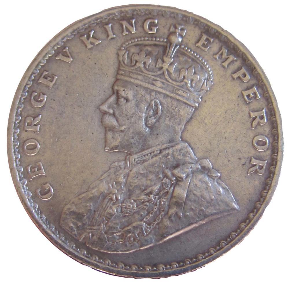 1 Rupia de Jorge V - 1917. Calcuta (India británica) 1_rupe13