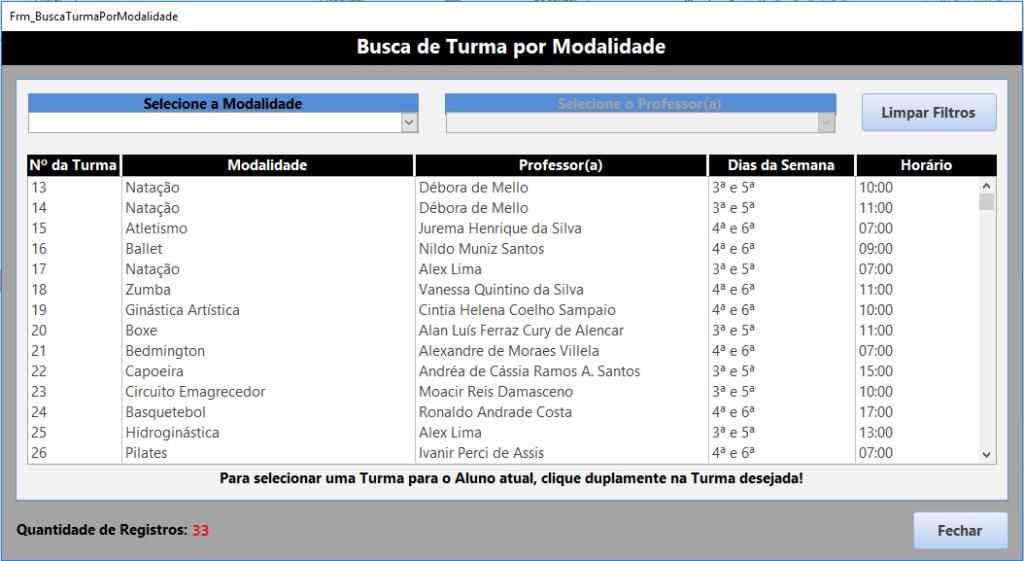 Bloquear Dados em Conflito em tela de cadastro de modalidades Tela_b11