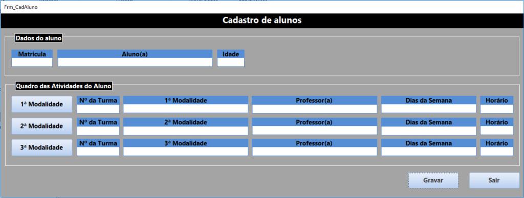 Bloquear Dados em Conflito em tela de cadastro de modalidades Tela_p10