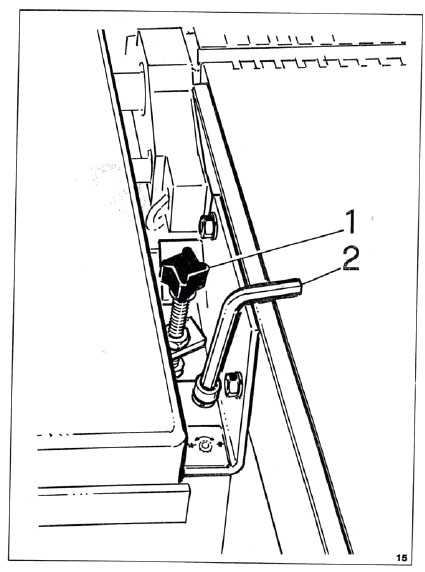 Modification du système de blocage de table d'une SICAR H300 Blocag10