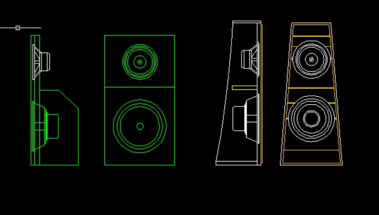 "Pre-Proyecto Open Baffle LII AUDIO Silver 10"" + Woofer 15"" Captur24"