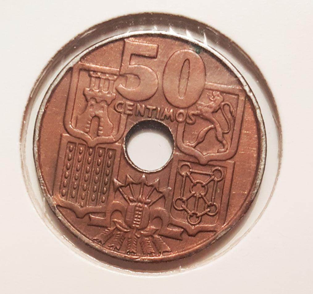 50 Centimos 1949. Estado Español. Consulta rareza 50cts110