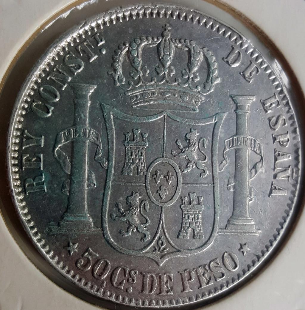 50 Centavos Peso 1883. Alfonso XII. Filipinas. Opinión 50ctsp11