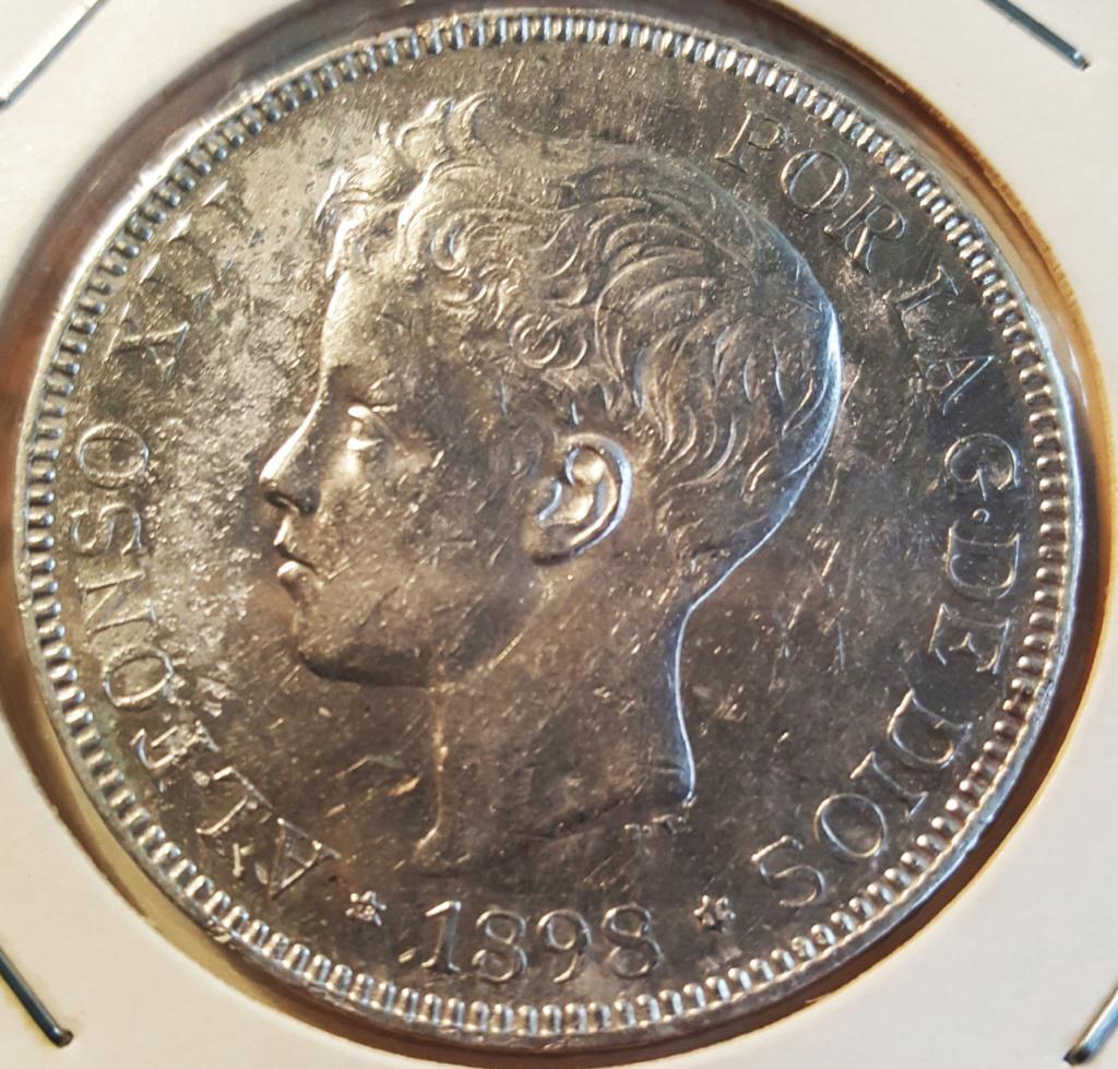 5 pesetas 1898. Alfonso XIII. SG V. Consulta 5ptas110