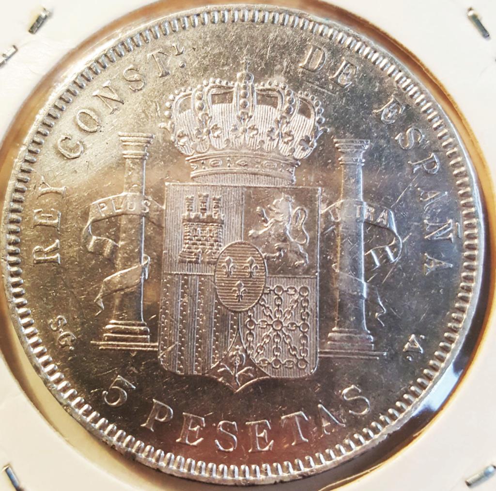5 pesetas 1898. Alfonso XIII. SG V. Consulta 5ptas111