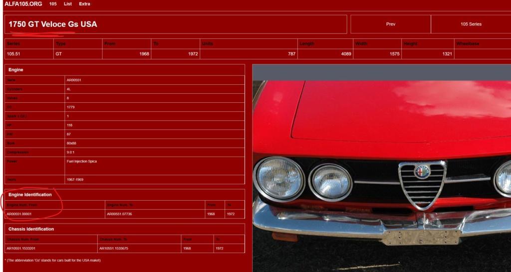 1750 GT Veloce USA - Moteur  Alfa1010