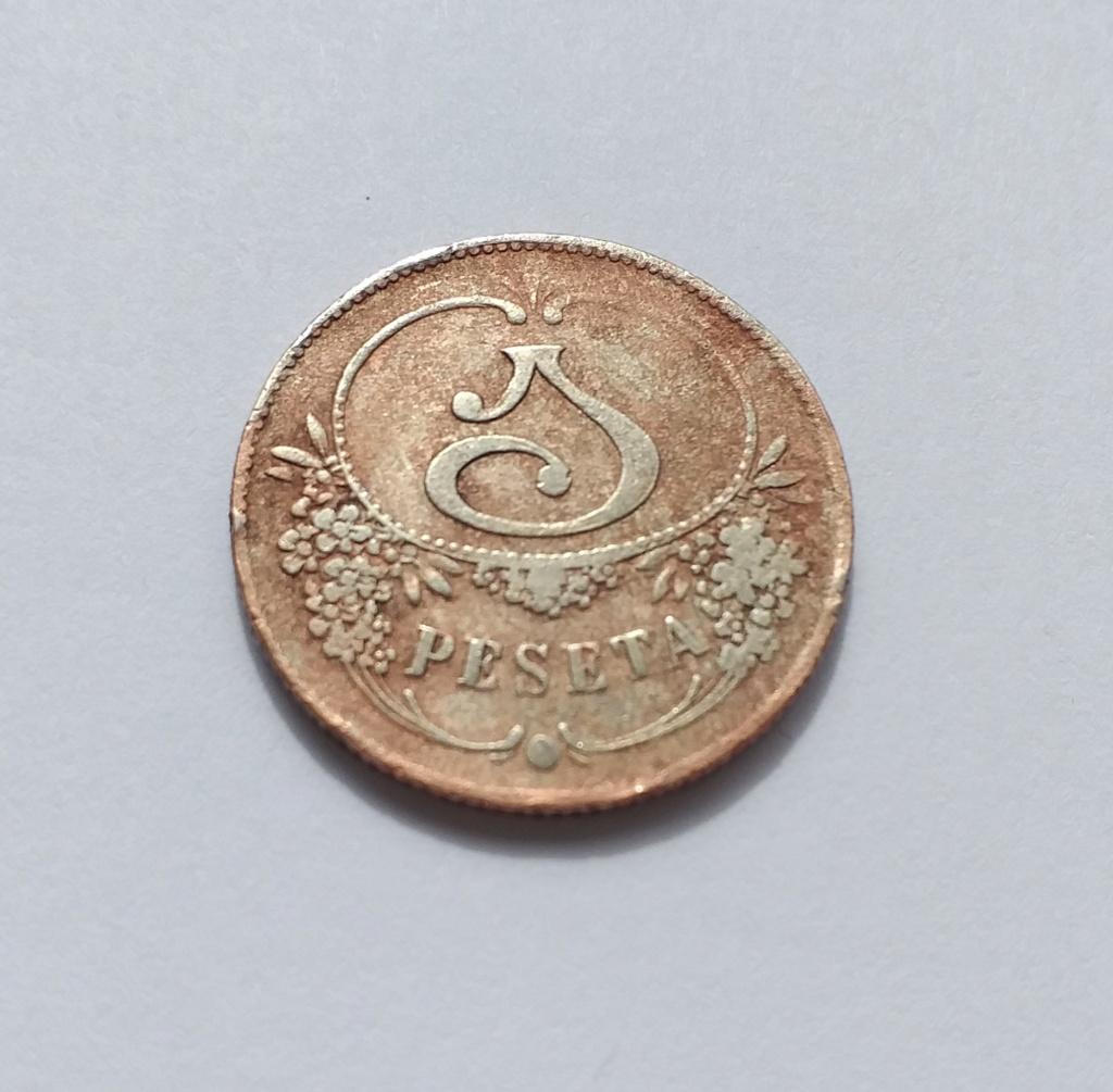 Ayuda identificar ficha 1 peseta. 20210411
